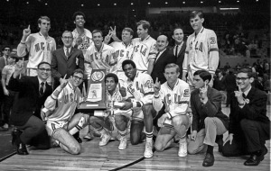 Dr. Organ as a member of the NCAA BB Champs 1968