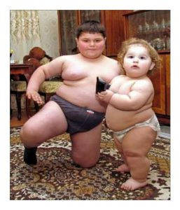 Studies have shown that fat infants and babies tend to grow up to be fat adults.
